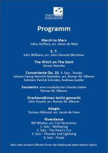 Programm SMD Jahreskonzert 2015